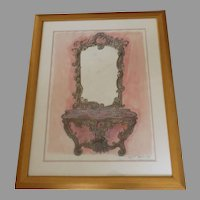 Fantasy Furniture Mixed Media by Danial Strawn Signed Dated '92