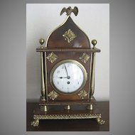 French Rosewood and Brass Bracket Clock