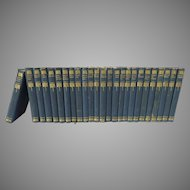 Set of 25 Volumes, The Works of Sir Walter Scott Published by Thomas Nelson & Sons