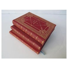 Set of Three Vintage Books by C.F. Meyer - Versuchung des Pescara, Novellen and Der Heilige