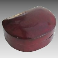 Vintage Small Demi Lune Italian Leather Box