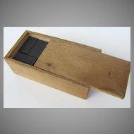 Vintage Dominoes in Box Greyhound Wooden