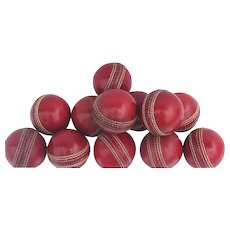 Vintage Red Leather Cricket Ball