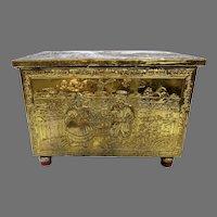 1900's Brass Repouse Tinder Box Dutch Scenes