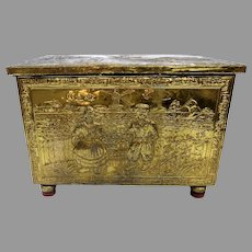 1900's Brass Repouse Tinder Box Dutch Scenes