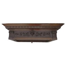 19th Century Small Architectural Carved Cornice Fragment Re-Purpose