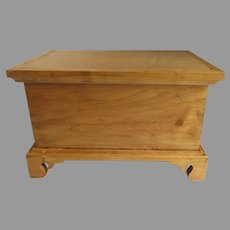 Vintage Bench Made Small Miniature Chest Box with Bracket Foot