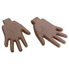 Vintage Painted Wood Hands Hinge