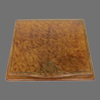 1920's Italian Italy Tooled Leather Writing Box Blotter Traveling Desk Top