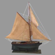 Large 1900's One Masted Sailboat Model