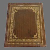 Vintage Italian Tooled Leather Picture Holder Folder Folio
