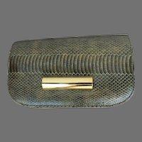 Vintage Faux Lizard Clutch Shoulder Small Purse Excellent
