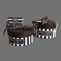 Three Vintage Henri Bendel Gift Boxes with Tissue