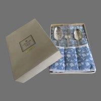 Vintage Box Flatware Set Christening Child's Christofle France Aria Silver Plated Big
