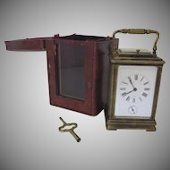 19th Century French Carriage Clock Retailed by Bigelow, Kennard & Co., Boston.