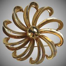 "Large Vintage Swirl Oin Brooch 2"" Diameter"