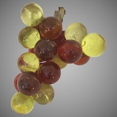 Vintage 1960's Lucite Red and Yellow Grape Cluster