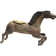 American Carved Wood Painted Carousel Horse c 1900