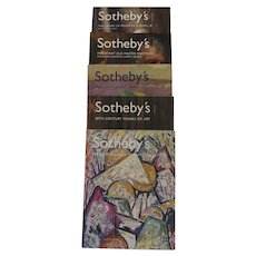 Group of Five Vintage Sotheby's Catalogues Library of Frederick B. Adams, American Paintings, 20th Century Works of Art, Old Masters