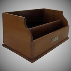 1900's Smith's Office Tickler Pat. Jan. 31, 1888 Box - W.804