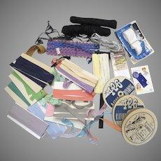 Vintage Large Lot Sewing Twill Tape Seam Binding Bias Tape Cord Notions