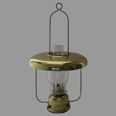 Vintage Brass Kerosene Lantern Light with Reflector Shade Made in Germany (C)