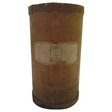 Vintage Tall Round Saigon Cinnamon Advertising Label Bin Drum Storage Farmhouse Country Mercantile General Store