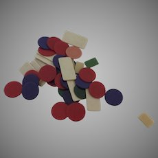Lot Vintage Game Pieces Markers Crafts Scrapbooking