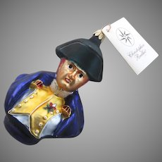 Christopher Radko Ornament Bust of General Lafayette Made in Poland Military 1997 Christmas
