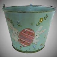 "Vintage Hand Painted Easter Bucket Basket 1970's ""Jessica"""