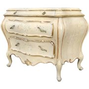 Large Venetian Italian Italy Painted Bombe Commode Chest of Drawers