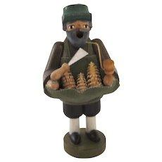 Vintage Erzgebirgische Volkskunst Seiffen Wood Worker Incense Burner Smoker Germany German