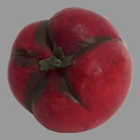 Vintage Stone Alabaster Marble Carved Fruit Vegetable Italy Tomato