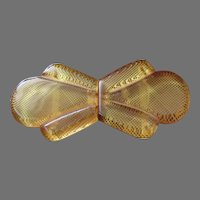 Vintage Bakelite Amberlite Belt Buckle
