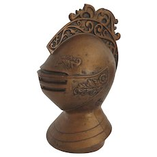 Vintage Ceramic Painted Medieval Helmet Armor