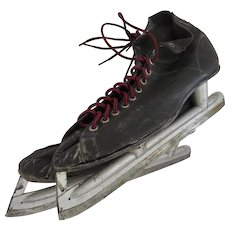 Vintage Leather Men's Ice Hockey Skates Prop Decor