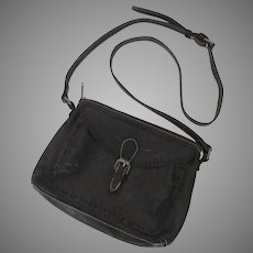 Vintage Patricia Nash Leather Tooled Purse Handbag Blackish Brown