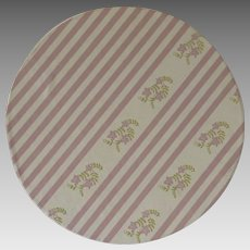 Vintage Small Wallpaper Storage Box Pink Stripe