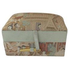 Vintage Jim Thompson Padded Silk Travel Box Trinket Jewelry Case Holder
