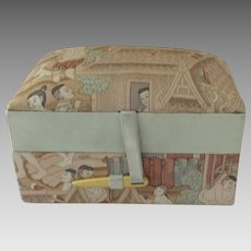 Vintage Jim Thompson Padded Silk Travel Box Trinket Jewelry Case Holder
