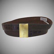 Vintage Double Gianfranco Ferre Belt Wide 1980's Italy Italian