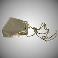 Vintage Gold Lame Rhinestone Clutch Shoulder Bag