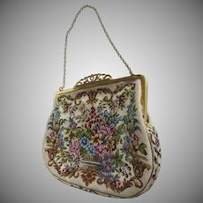 Vintage Petit Point Handbag Un-used