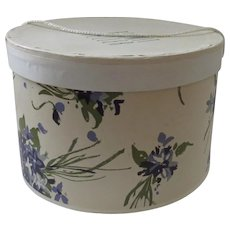 Vintage Bonwit Teller Hat Box Violets