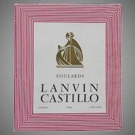 Lanvin Castillo Vintage Empty Scarf Box