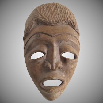Vintage TIKI Tribal Wood Carving Mask SCULPTURE Hawaii Polynesian