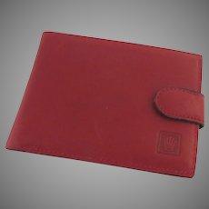 Vintage Red Leather Rolex Wallet