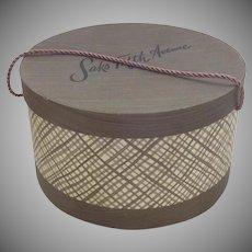 Vintage Mid Century 1950's Saks Fifth Avenue Hat Box