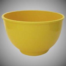 "Large Vintage Plastic Dansk Bowl Yellow 10 1/2"" Gunnar Cyren"