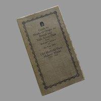 British and Irish Silver Assay Office Marks Book Frederick Bradbury